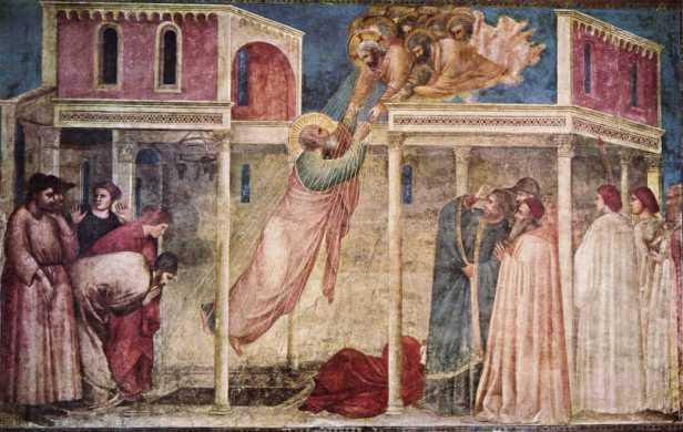 Giotto, Assunzione di san Giovanni Evangelista, Cappella Peruzzi