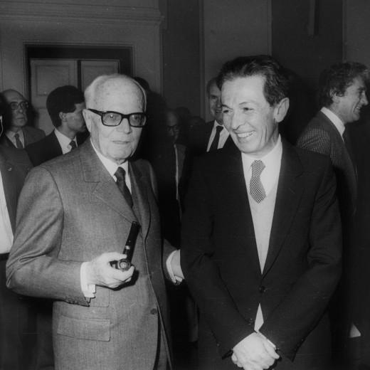Sandro Pertini in compagnia del segretario del partito comunista Enrico Berlinguer
