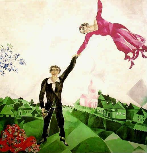1.Marc Chagall, La passeggiata, olio su tela, 1917-1918, Museo di Stato Russo, San Pietroburgo