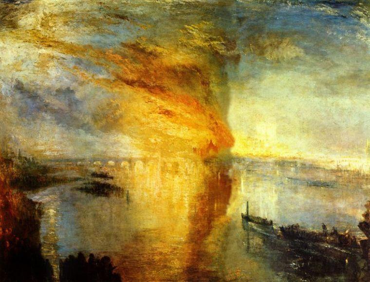 William Turner, L'incendio delle Camere dei Lord e dei Comuni