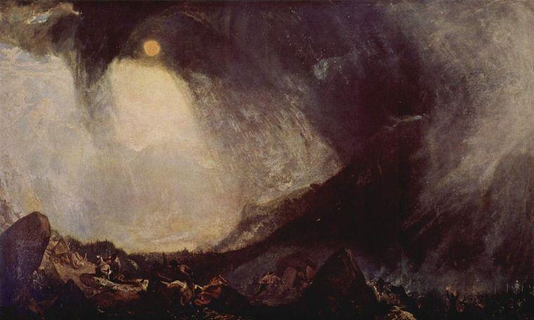 William Turner, Bufera di neve: Annibale e il suo esercito attraversano le Alpi