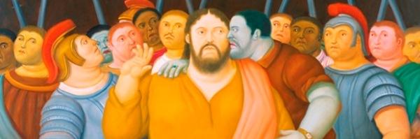 Fernando Botero, Il bacio di Giuda (dettaglio)