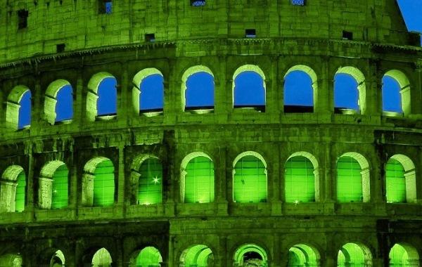 Colosseo, festa san Patrizio