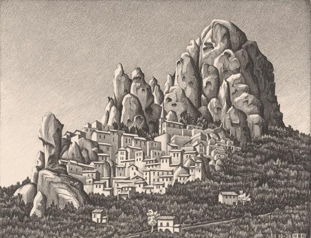 Maurits Cornelis Escher, Pentedattilo, Calabria, 1930