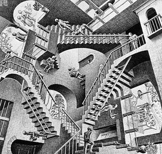 M.C. Escher, Relatività