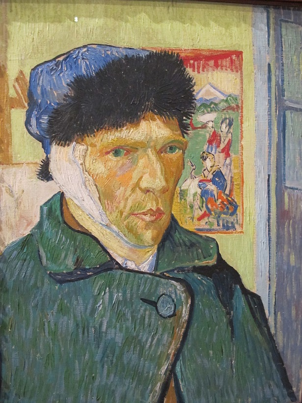 Vincent van Gogh, Autoritratto con orecchio bendato, 1889, olio su tela, 60 cm x 49 cm, The Courtauld Institute of Art, Londra