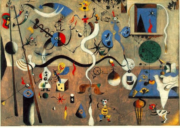 Joan Miró, Il carnevale di Arlecchino, 1924-25. olio su tela, 66 x 93, Albright-Knox Art Gallery, Buffalo, NY, USA