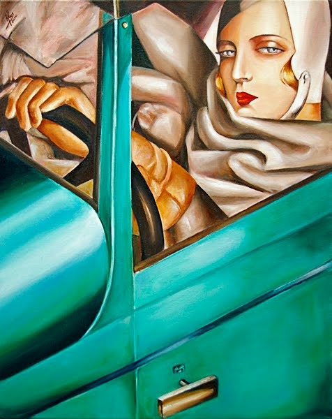 Tamara de Lempicka, Autoritratto nella Bugatti verde (1932)