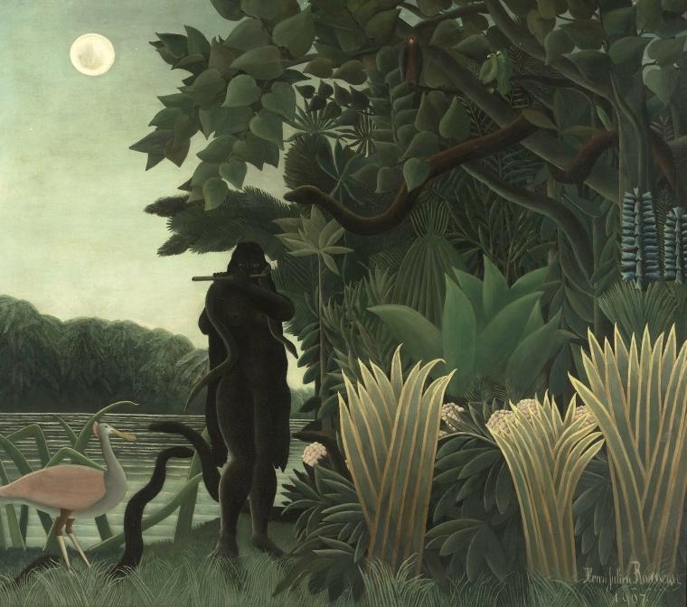 Henri Rousseau, L'incantatrice di serpenti, (1907) Musée d'Orsay di Parigi