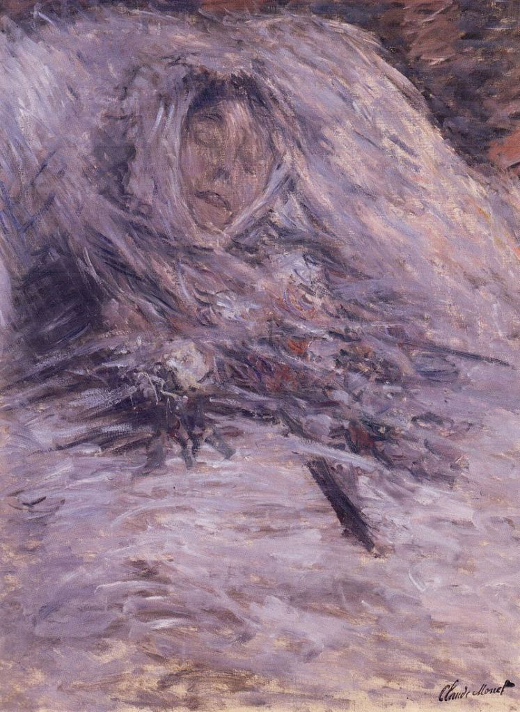 Claude Monet, Camille sul letto di morte, 1879, olio su tela, 90×68 cm, Musée d'Orsay, Parigi