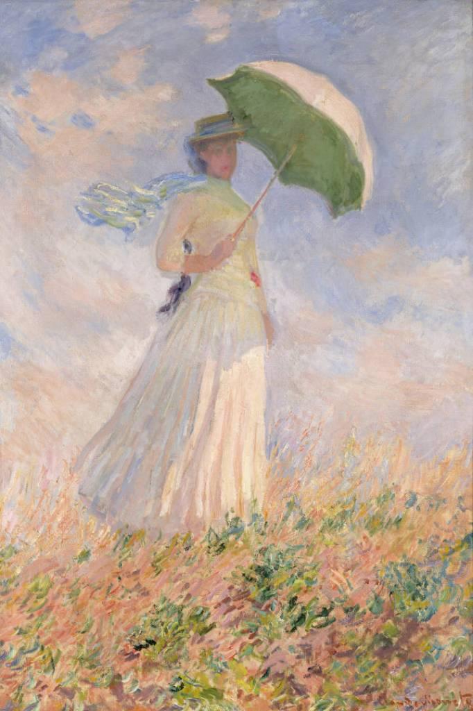 Claude Monet, Prova di figura all'aria aperta: Donna con il parasole girata verso destra, 1886, olio su tela, 130,5x89,3 cm, Paris, Musée d'Orsay