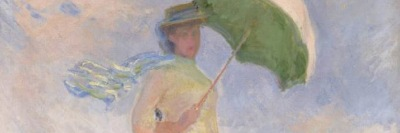 Claude Monet, Prova di figura all'aria aperta: Donna con il parasole girata verso destra, 1886