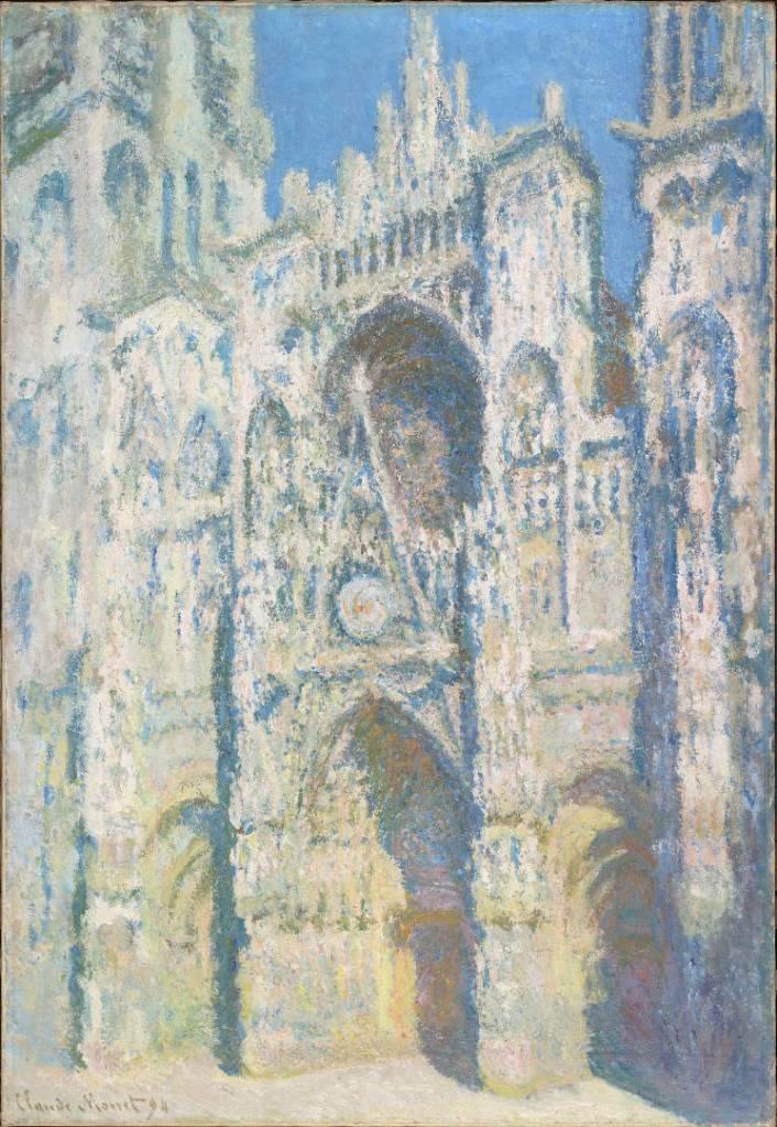 Claude Monet, La cattedrale di Rouen. Il portale e la torre Saint-Romain in pieno sole, 1893, olio su tela, 107x73,5 cm; Paris, Musée d'Orsay