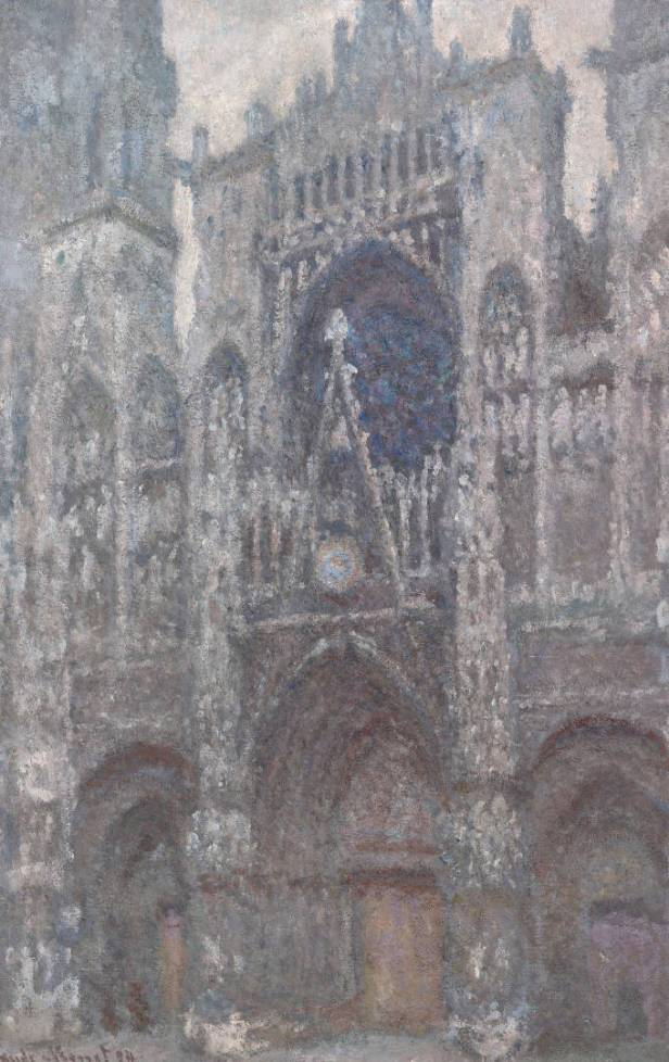 Claude Monet, La cathédrale de Rouen. Le portail, temps gris (La cattedrale di Rouen. Il portale, tempo grigio, 1892 circa), olio su tela, 100,2x65,4 cm, Paris, Musée d'Orsay
