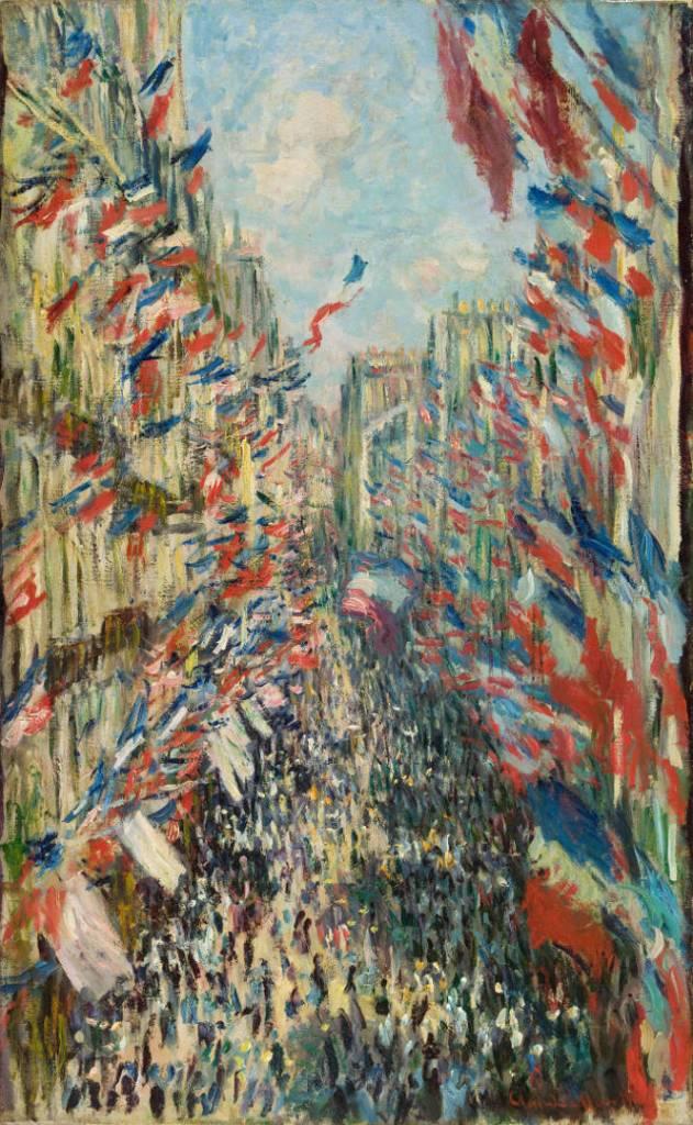 Claude Monet, La Rue Montorgueil a Parigi. Festa del 30 giugno 1878, olio su tela; 81x50 cm, Paris, Musée d'Orsay