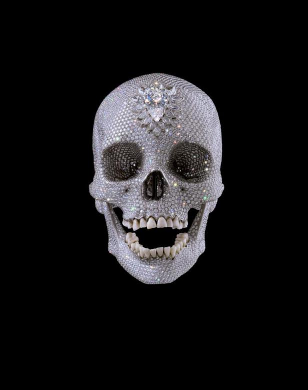 Damien Hirst, For the love of God, 2007, denti, platino e diamanti, 17,1×12,7×19,1 cm, White Cube, Londra
