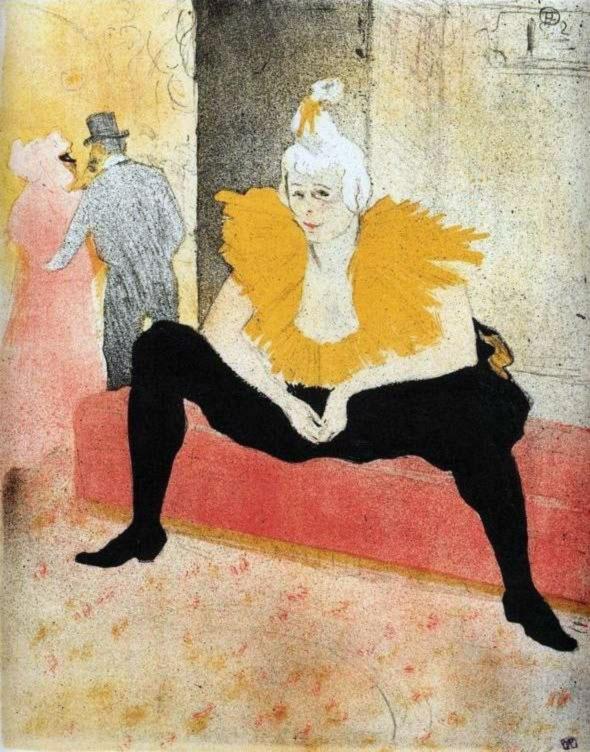 Henri de Toulouse-Lautrec, Donna pagliaccio seduta, 1896