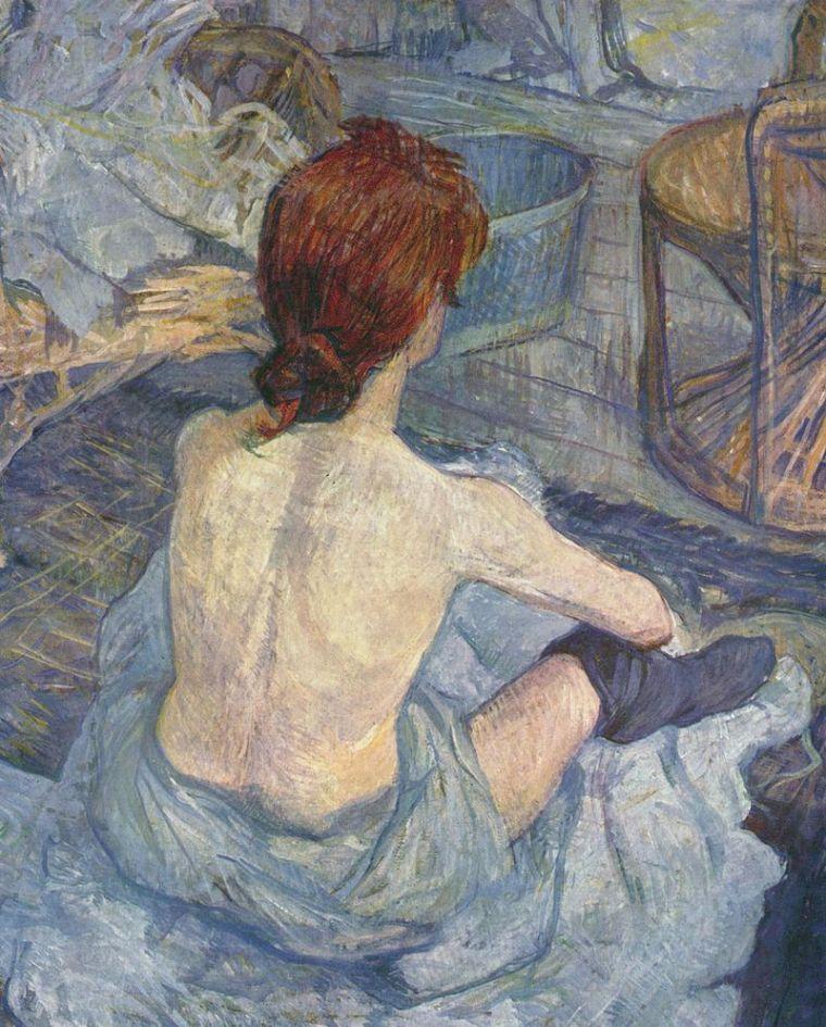 Henri de Toulouse-Lautrec, La toilette, 1896, olio su cartone, 67×54 cm, Musée d'Orsay, Parigi