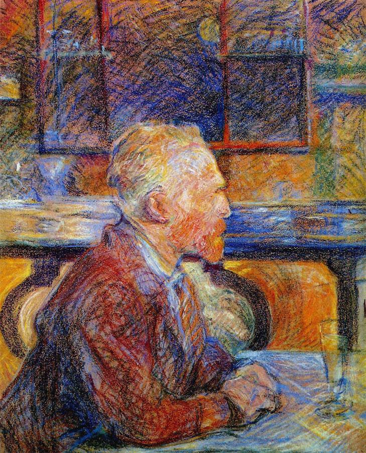 Henri de Toulouse-Lautrec, Portrait of Vincent van Gogh, 1887, pastello, 54 x 45 cm, Van Gogh Museum