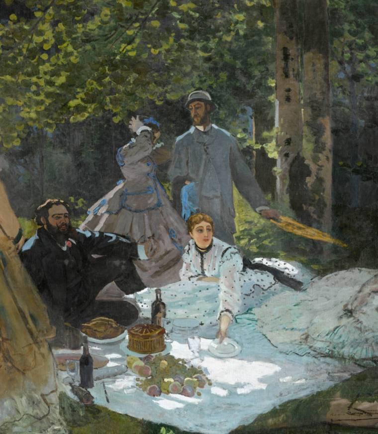 Claude Monet, Colazione sull'erba, 1866, olio su tela, 248,7x218 cm, Musée d'Orsay, Parigi
