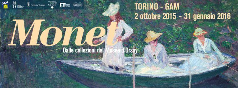 """Il manifesto della mostra """"Monet. Dalle collezioni del Musée d'Orsay"""" a Torino"""