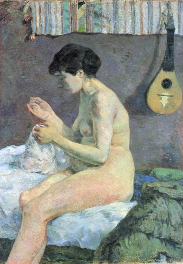Paul Gauguin, Nudo di donna che cuce, olio su tela, 115x80 cm, 1880, Ny Carlsberg, Copenaghen
