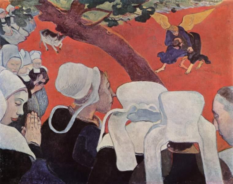 Paul Gauguin, Visione dopo il sermone, olio su tela, 73x92 cm, 1888, Nat. Gall. of Scotland, Edinburgh