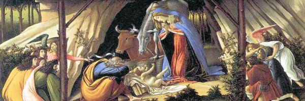 Sandro Botticelli, Natività Mistica (dettaglio)
