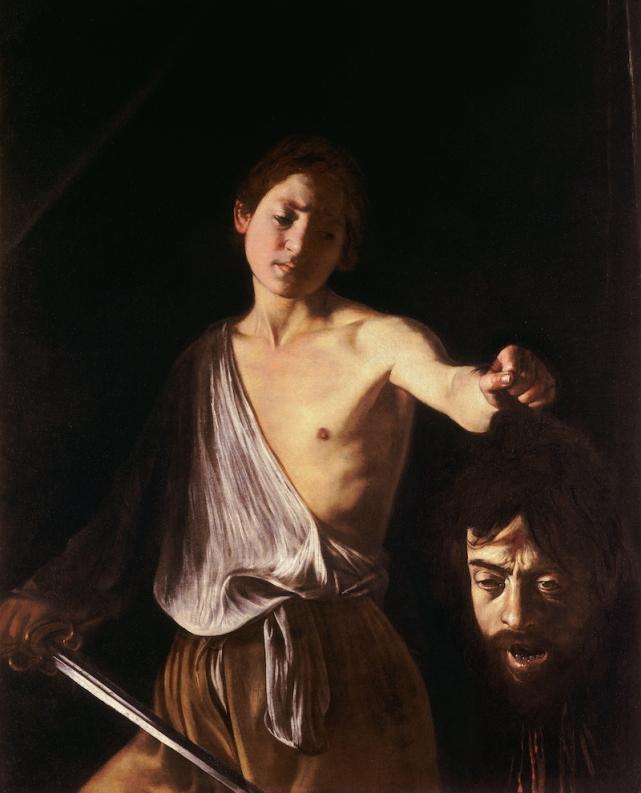 Caravaggio, Davide con la testa di Golia, 1609-1610, olio su tela, 125×100 cm, Galleria Borghese, Roma