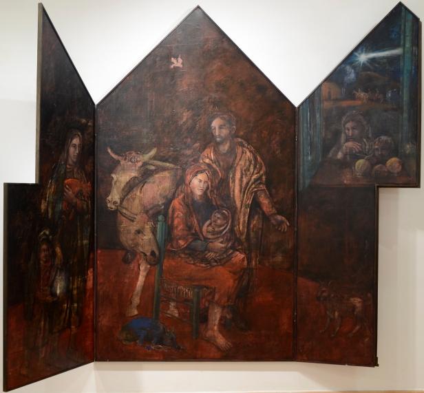 Felice Lovisco, Natività de Signore, 2011, Trittico, olio su tavola, 214x248