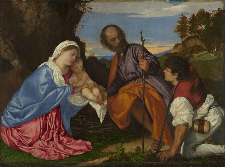 Tiziano_sacra_famiglia_pastore_Natale_due-minuti-di-arte