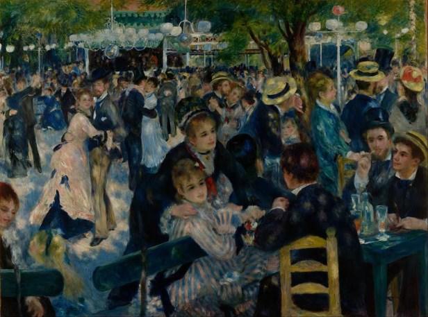 Pierre-Auguste Renoir, Bal au moulin de la Galette, 1876, 1,31 m x 1,75 m, colore ad olio, Museo d'Orsay di Parigi