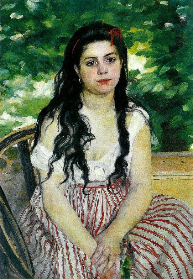Pierre-Auguste Renoir, La Bohémienne, Alte Nationalgalerie, Berlino (Germania)