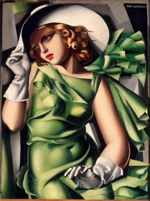 Tamara_de-Lempicka_ragazza-in-verde_mostra_AMO_Verona_due-minuti-di-arte