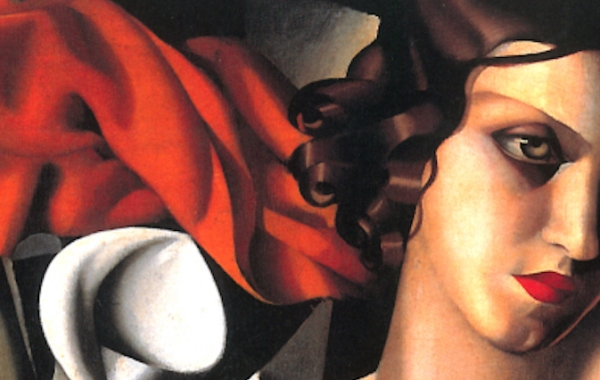 Tamara de Lempicka, ritratto di Madame Perrot, 1931 (dettaglio)