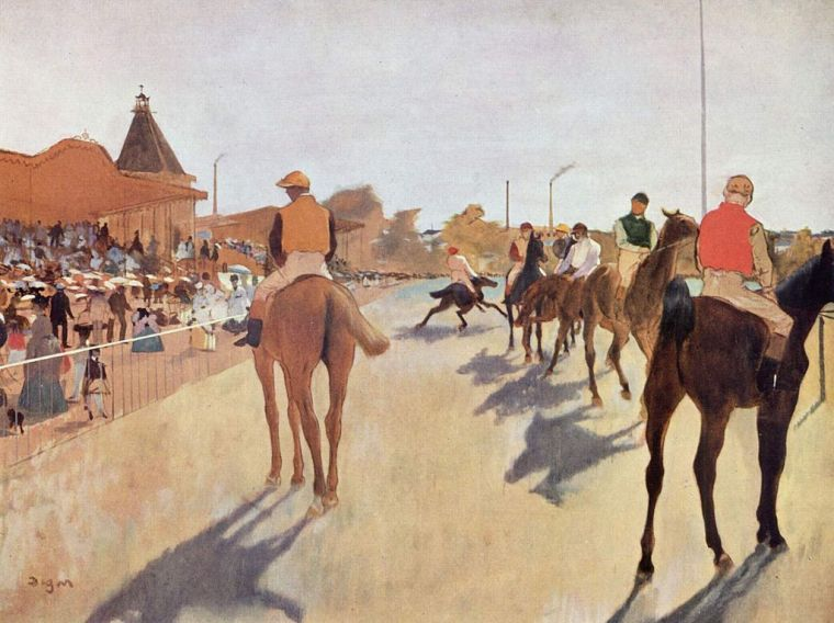 Edgar_Degas_cavalli-da-corsa-davanti-alle-tribune_biografia_Opere_due-minuti-di-arte