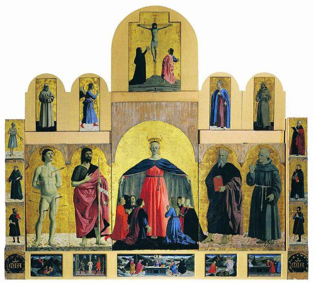 Piero della Francesca, Polittico della misericordia, 1444-1464, olio e tempera su tavola, 273×330 cm, Museo civico, Sansepolcro