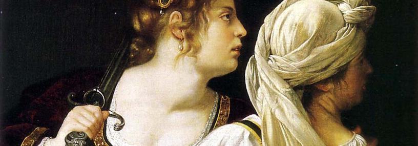 Artemisia Gentileschi, Giuditta e la sua ancella (dettaglio)