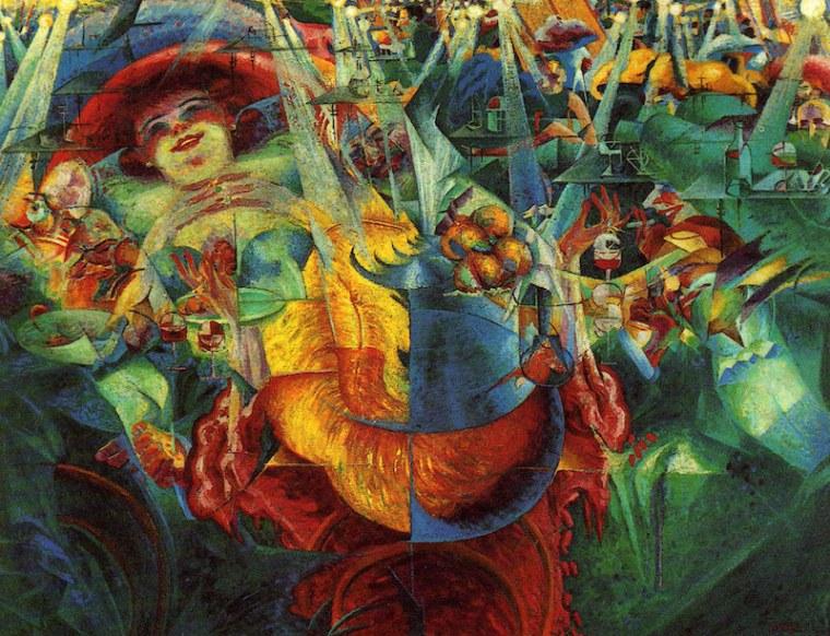 Umberto Boccioni, La risata, 1911, New York, Museum of Modern Art