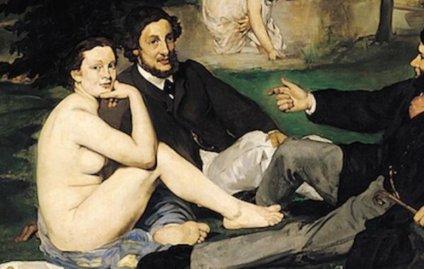 Edouard Manet, Colazione sull'erba (dettaglio)