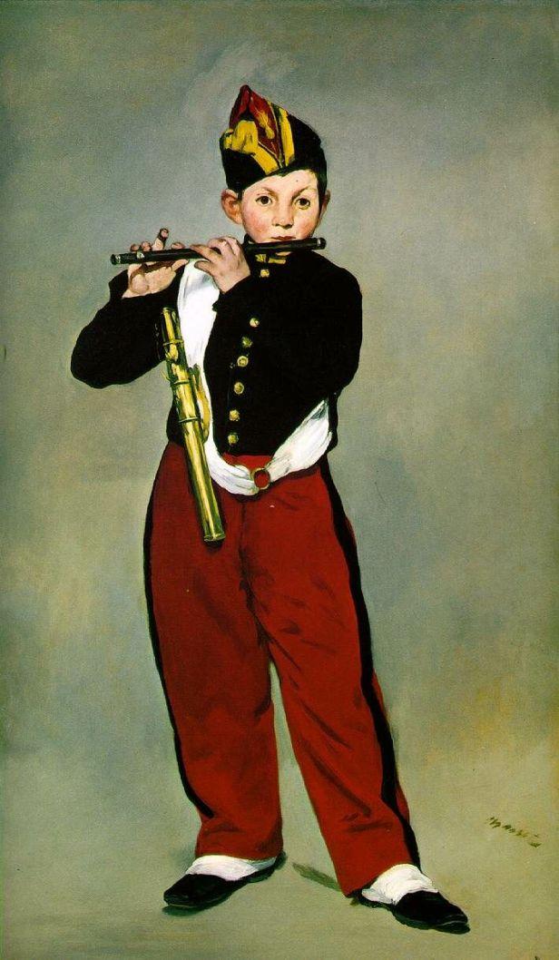 Édouard Manet, Il pifferaio, 1866, olio su tela, 168×98 cm, Musée d'Orsay, Parigi