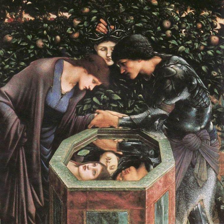 Edward Burne-Jones, La testa funesta, 1886-1887, Stoccarda, Staatsgalerie