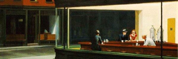 Edward Hopper, Nightwalks (dettaglio)