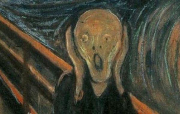 Edvard Munch, L'urlo (dettaglio)