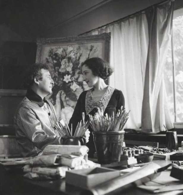 Marc Chagall e Bella a Parigi tra il 1938 e il 1939 (© Chagall ® SABAM Belgium 2015)