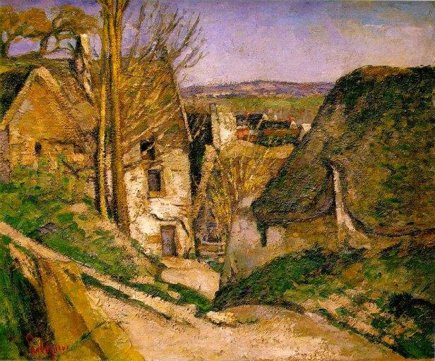 Paul Cézanne, La casa dell'impiccato ad Auvers, 1873, Parigi, Musée d'Orsay