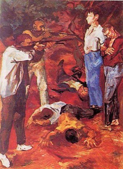Renato Guttuso, Fucilazione in campagna, 1938