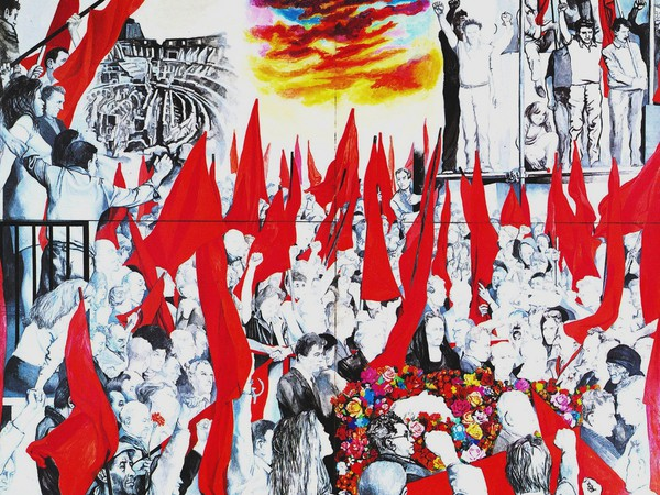 Renato Guttuso, I funerali di Togliatti, 1972, MAMbo - Museo d'arte Moderna di Bologna