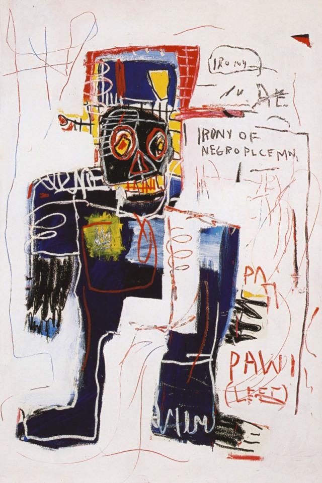 Jean-Michel Basquiat, Irony of Negro Policeman, 1981