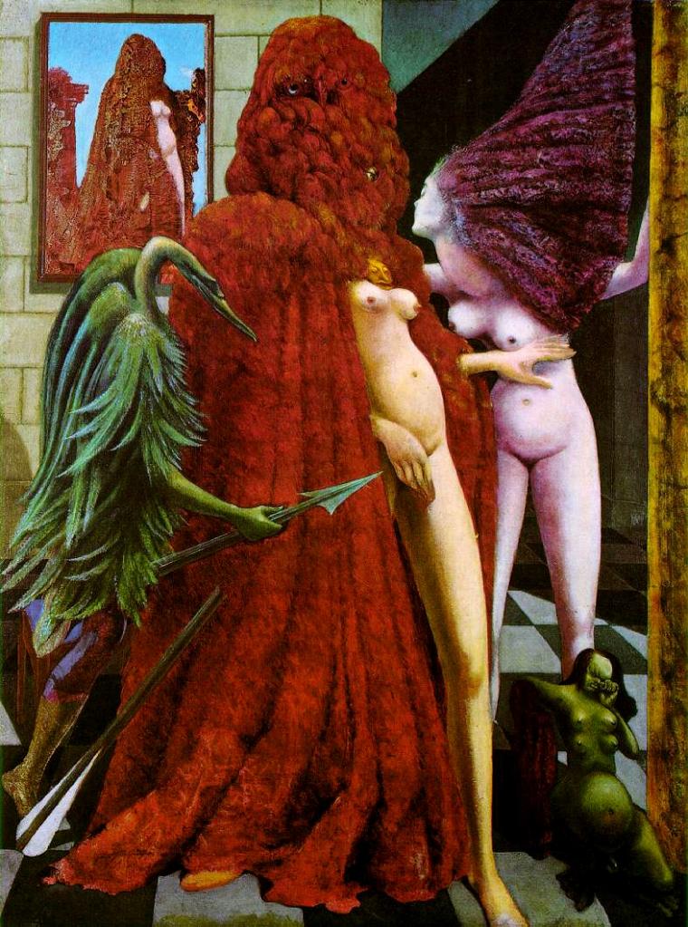Max Ernst, La vestizione della sposa, 1940-1941, olio su tela, 130×96 cm